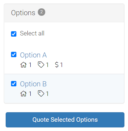 Screenshot of how to send quotes in LMPM